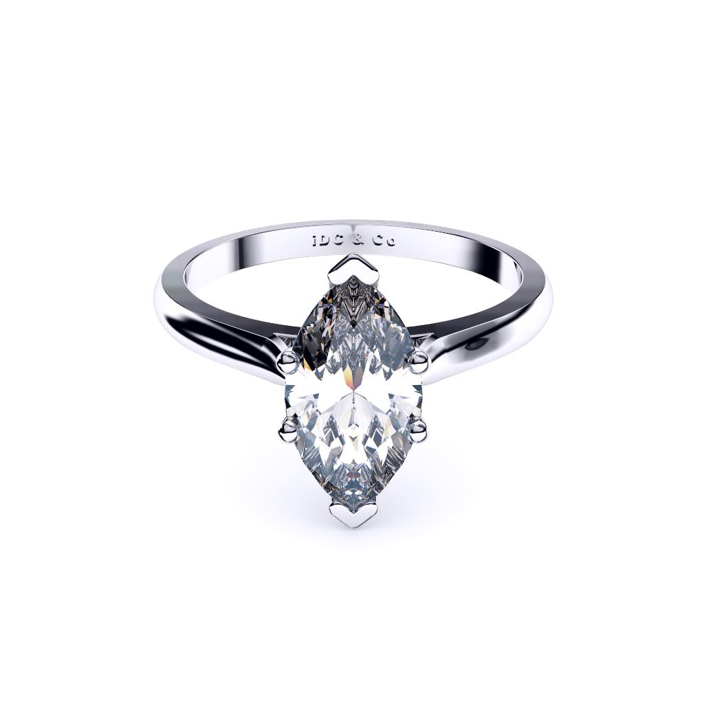 white gold classic marquise solitaire laydown