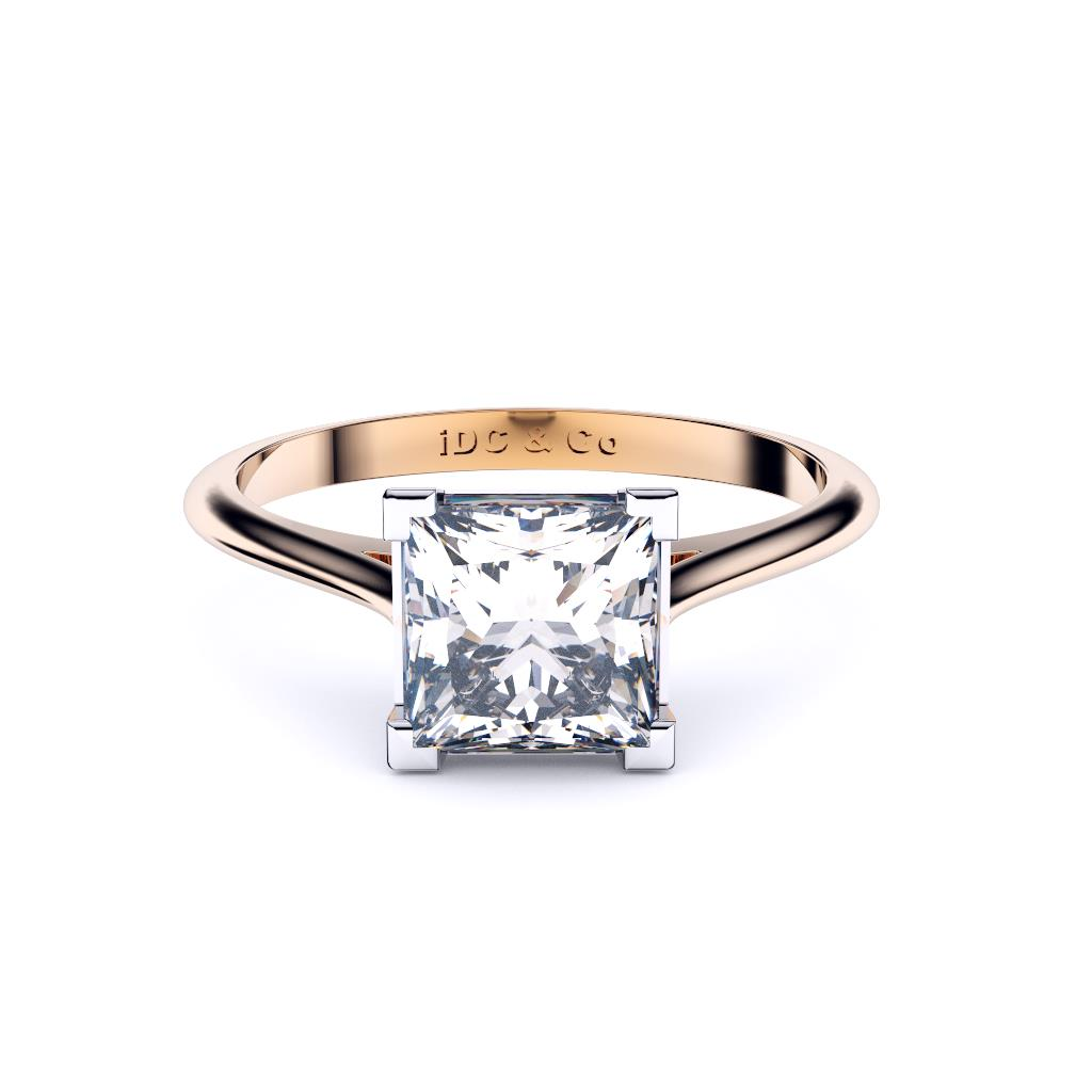 white gold classic 4 claw solitaire lay down