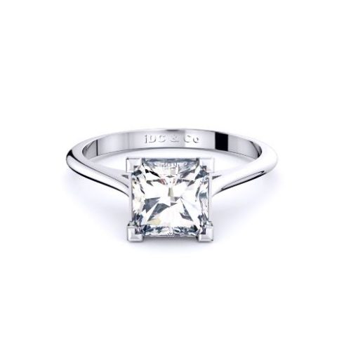 Classic Radiant Solitaire Band Melbourne Diamond Company