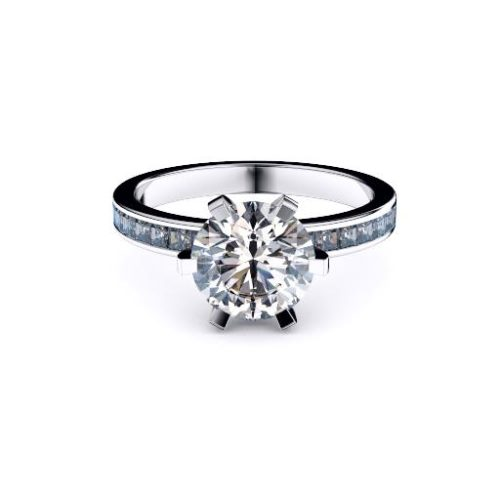 Classic Round Solitaire Diamond Princess Diamond Set Band Melbourne Diamond Company