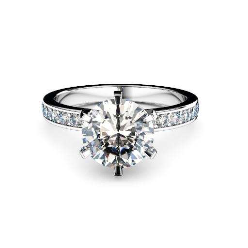 Round diamond with round diamond shoulders melbourne diamond company