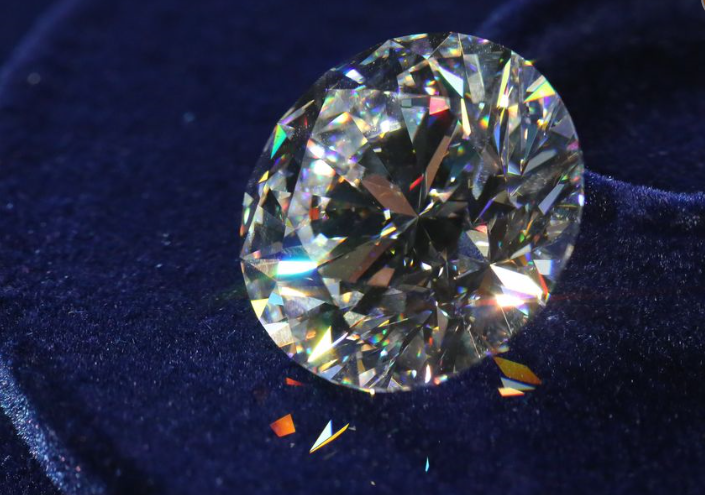 51 Carat Russian Flawless Diamond Top View
