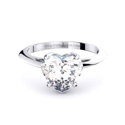 Classic Heart Solitaire Band Melbourne Diamond Company