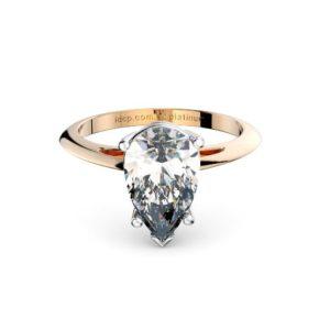 Classic Pear Solitaire Band Melbourne Diamond Company