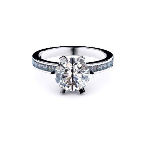 Classic Round Solitaire Diamond Princess Diamond Set Band Melbourne Diamond Company